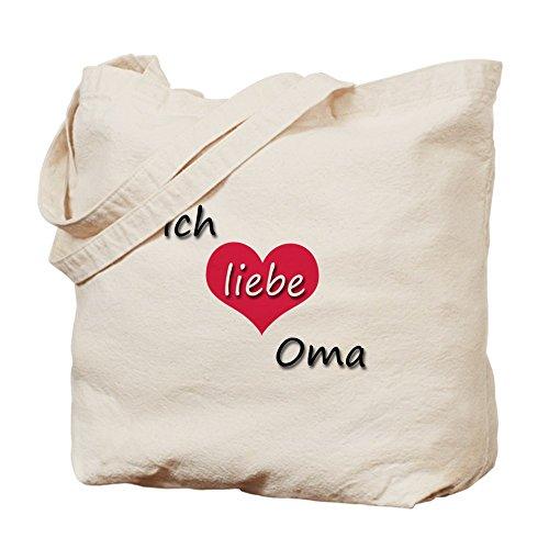 CafePress–Ich Liebe OMA I Love Grandma en alemán Tote Bag–Natural gamuza de bolsa de lona bolsa, bolsa de la compra