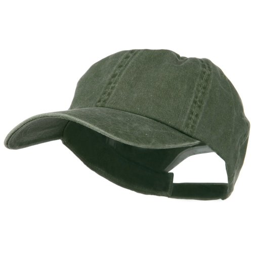 New Big Size Washed Cotton Ball Cap - Olive (for Big Head)