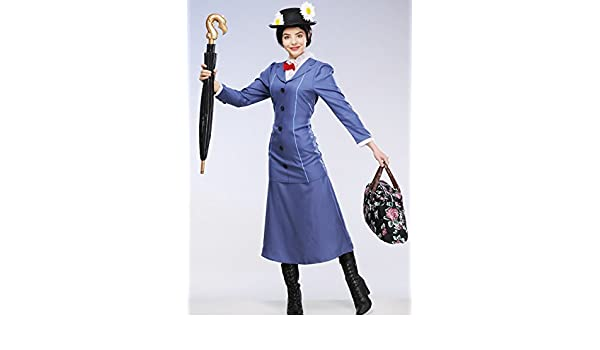 Damas adultas Mary Poppins Costume Large (UK 16-18): Amazon.es: Juguetes y juegos