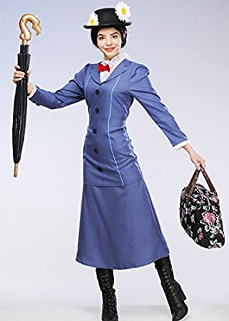 Damas adultas Mary Poppins Costume Large (UK 16-18)