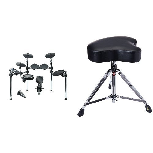 Alesis Command Kit | Eight-Piece Electronic Drum Set with Mesh Snare and Mesh Kick & Gibraltar 6608 Drum Throne