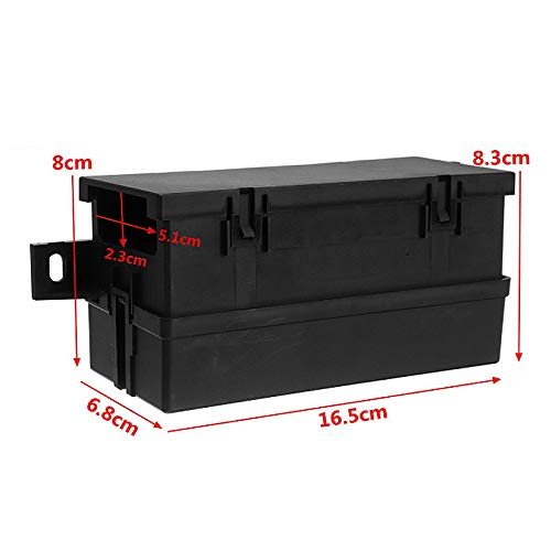 Luntus 12V Auto Waterproof Fuse Relay Box Block [6 Style Relay Holder] 12-Slot Blade Fuse Holder Fuse Box(4Reserved…