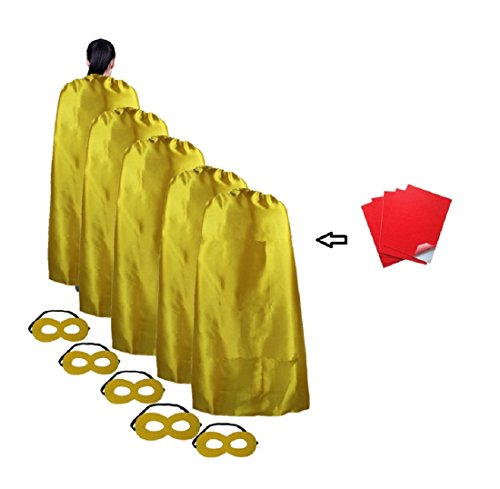Diy Cartoon Costumes For Women (Ranavy Superhero Capes For Adult -Hallowean Party Dress Up Lot of 5 Plain 55