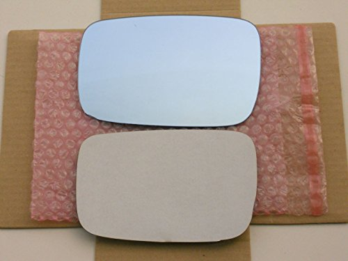 New Replacement BLUE Mirror Glass with FULL SIZE ADHESIVE for Acura TL ZDX Driver Side View Left -