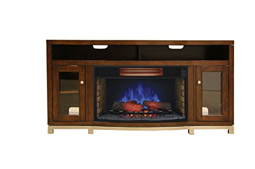 Cherry Electric Fireplace Cabinet Mantel (ClassicFlame 32MM6449-C247 Wesleyan TV Stand for TVs up to 70