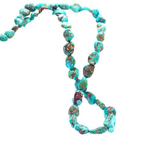 SIERRA NEVADA TURQUOISE Beads Nevada Aqua Matrix 8-15mm