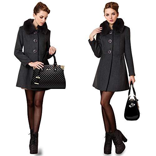 Women's Patent Leather Handbags Designer Totes Purse Satchels Shoulder Handbag Fashion Embossed Top Handle Bags (Black) (Sale Gucci Purses On)
