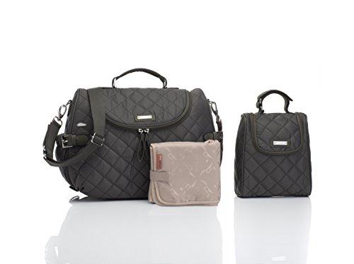 Storksak Poppy Convertible Diaper Tote Bags, Charcoal - Stork Sack Diaper Bags