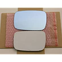 New Replacement BLUE Mirror Glass with FULL SIZE ADHESIVE for Acura TL ZDX Driver Side View Left LH