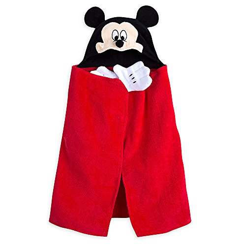 (Disney Mickey Mouse Hooded Towel for Baby - Red)