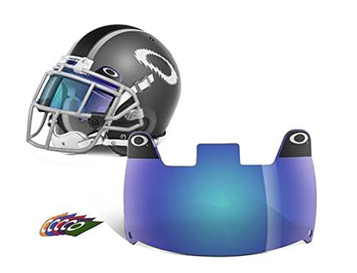(Oakley Football Shield, Blue, One)