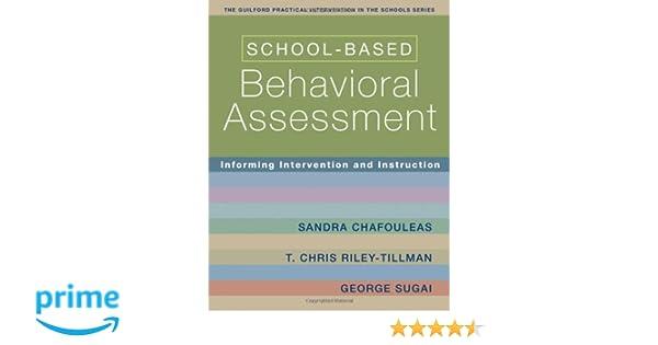 Amazon.com: School-Based Behavioral Assessment: Informing ...