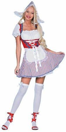 Disfraz de holandesa para mujer, tallas 34 - 46, 100% poliéster ...