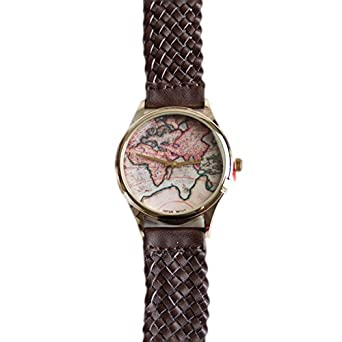 Geneva braided world map quartz japanese movement silver dial adult geneva braided world map quartz japanese movement silver dial adult watch gumiabroncs Gallery