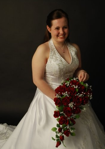 Red-Silk-Rose-Cascade-Bridal-Wedding-Bouquet