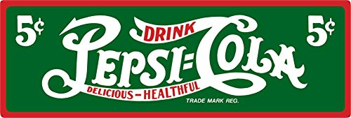 Pepsi Delicious Sign Tin Sign 19 x 7in Pepsi Cola Sign