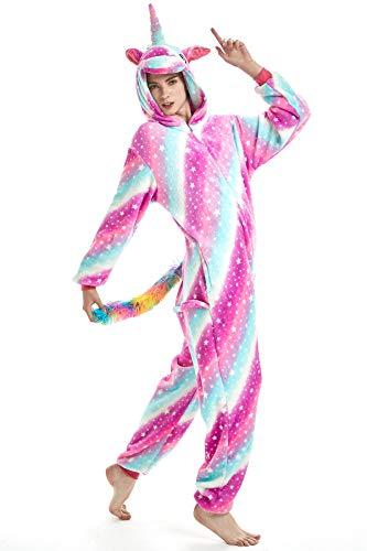 JYUAN Animal Onesie Pajamas Unicorn Cosplay Costume Cute