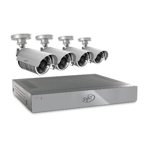 SVAT 4CH H.264 500GB Smart Security DVR with 4 x 480TVL 75ft Night Vision Indoor/Outdoor Cameras (11020)