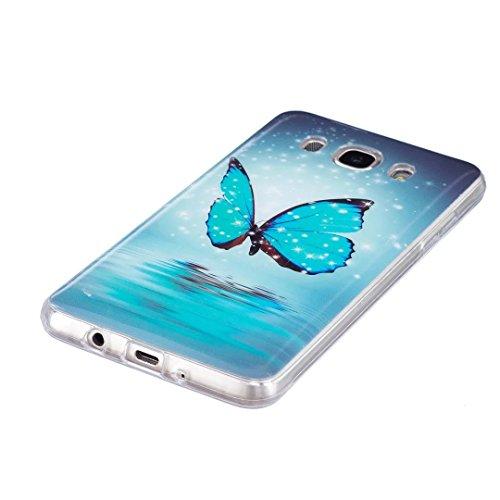 Vandot Funda Luminosa de Silicona Caucho Gel para Samsung Galaxy J7 2016 J710 Soft TPU Silicone Case Cover Carcasa Protectora 3D Pintado Patrón Funda Blanda Suave Flexible Caja Delgado Ligero Casco An Light2 -7