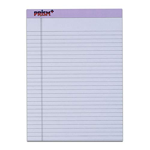 TOPS Prism Plus 100% Recycled Legal Pad, 8-1/2 x 11-3/4 Inches, Perforated, Orchid, Legal/Wide Rule, 50 Sheets per Pad, 12 Pads per Pack (63140) ()