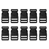 Baosity 10 Pieces Plastic Quick Release Buckles Clips Side Release for Backpack Luggage Travel Bag Attachment Accessories