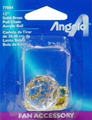 Westinghouse 7708400 Light Fixture Pull Chain With Acrylic Ball Knob