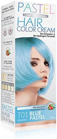 Color del pelo pelo coloración coloration Intensivo películas precortadas Pastel Azul Turquesa – No amoniaco/Hydrogen