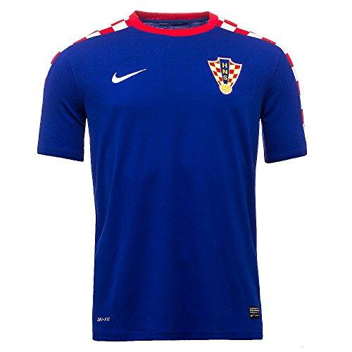 Croatia 2014 Away Soccer Jersey (Bright Blue/Football White) (XL)