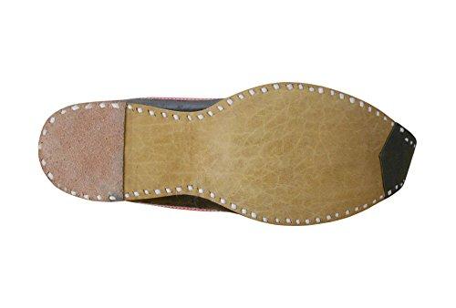 da Creations Black Kalra Golden uomo pelle indiano amp; matrimonio tradizionale scarpe in qpfw5