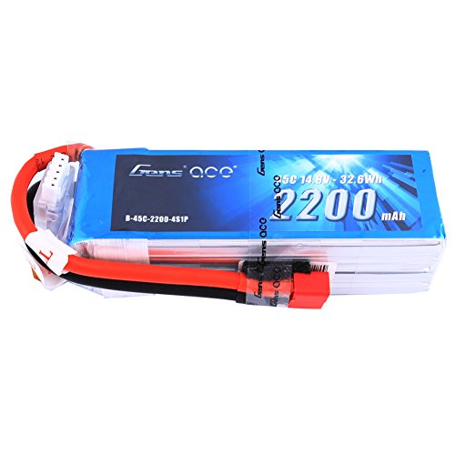 Gens ace 14.8V 2200mAh 45C 4S LiPo Battery Pack with Deans Plug for RC Boat Heli Airplane UAV Drone FPV Foamy Freewing