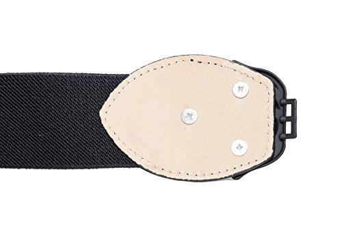 Modeway Women's 4cm Wide Rose Flower Buckle Elastic Stretch Cinch Waist Belts (XL-XXL, Black)