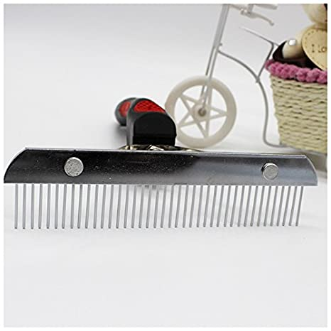 R Pet Comb Extra-Large Rake Comb Grooming Brush Deshedding Tool Beauty Comb For Large Dogs Golden Retriever Husky SODIAL