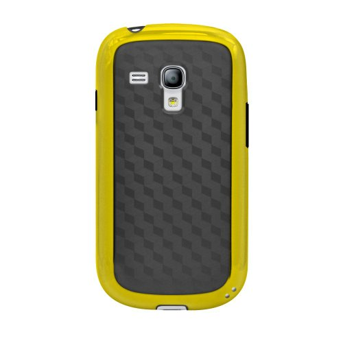 Katinkas 2108054508 Hard Cover for Samsung Galaxy S3 mini Fiber - 1 Pack - Carrying Case - Retail Packaging - Black/Yellow