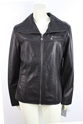 Marc New York Womens Leather Jacket (Black, ()