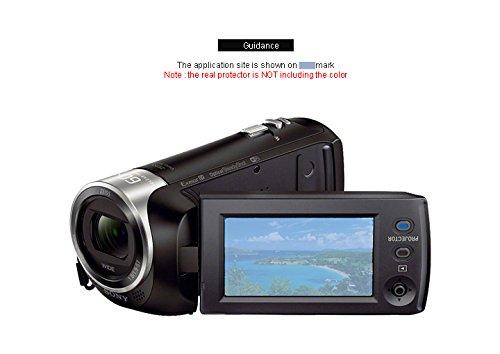 BBAR sony hdr-pj440 HD Clear cam screen protector 2PCS Hi-definition anti-reflection clean
