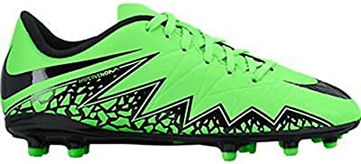 Nike Jr. Hypervenom Phelon II FG Indoor Soccer Shoe (Green Strike, Black)