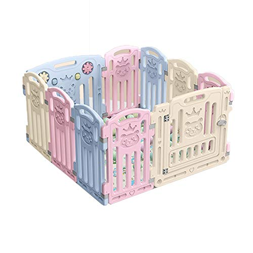 Bed rails Xiaomei Kids Playpen Kids Activity Centre Home Indoor Outdoor Playpens for Toddlers Plastic Fitted Floor Mats and Bright Coloured Play Balls Sturdiness Used in Home, Outdoor