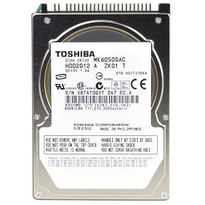 TOSHIBA MK6050GAC 60GB TOSHIBA AUTOMOTIVES DRIVES Toshiba MK6050GAC 60GB UDMA/133 4200RPM 8MB 2.5'' IDE Hard Toshiba