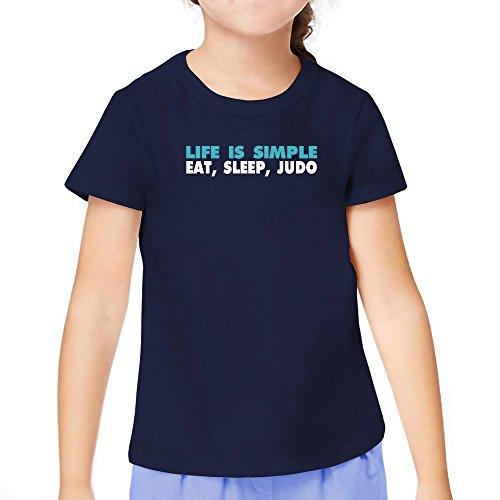 Teeburon Life Is Simple Eat, Sleep, Judo Girl T-Shirt