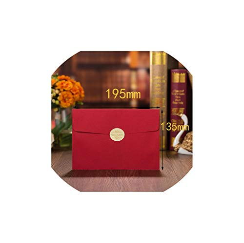 Greeting Card,1Pcs 3 Colors Cut Bride And Groom Wedding Invitations Card Elegant Greeting Card Envelopes Wedding Party Favors Decoration,Only Red Envelopes,128 X 180 Mm