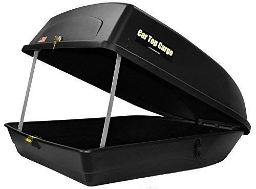 Car Top Cargo Rooftop Cargo (18 Cubic Feet Storage Box 57 39 X 19-Inch No Tools Needed 110 Lb Capacity)