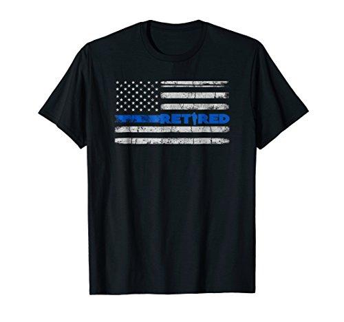 Retired Police Officer Shirt, Thin Blue Line Flag Retirement