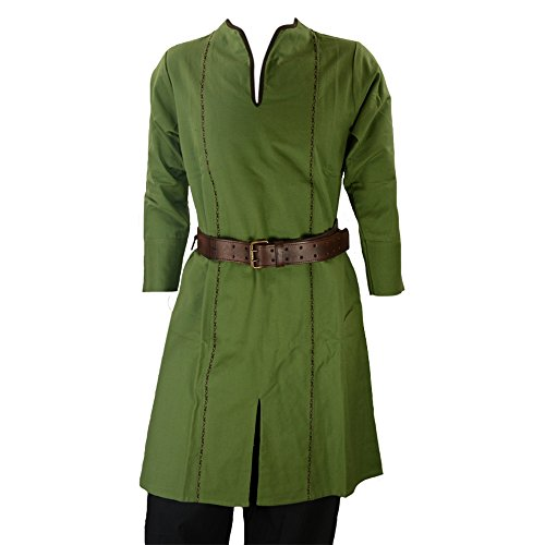 Epic Armoury Armor Venue: Elven Tunic Green w/Dark Brown Trim -