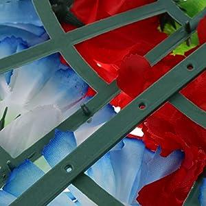 D DOLITY Funeral Cemetery Decoration Handmade Silk Lily Flower Memorial Flower Wreath 60cm - H 5