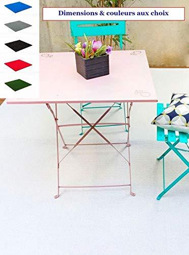 MadeInNature Tapis spécial Salon de Jardin/Tapis extérieur et  intérieur/Tapis pour Terrasses et Balcons/Dimensions et Coloris au Choix  (Blanc, 4x2m)