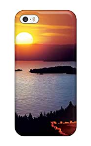 New Snap On Iphone Skin Case Cover Compatible With Iphone 5/5s Fire