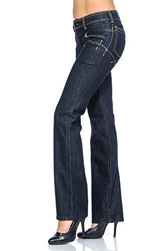 45900bf5905 VIRGIN ONLY Women s Slim Fit Stretch Denim Straight Leg Jeans ...