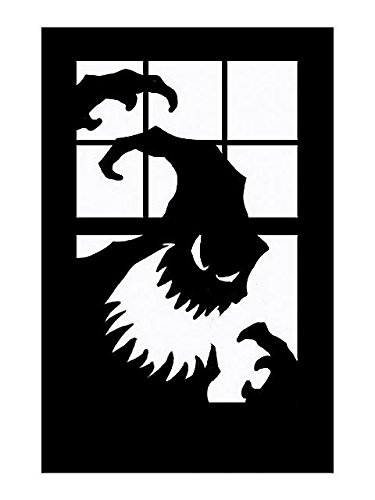 Window Scary Silhouette Decoration