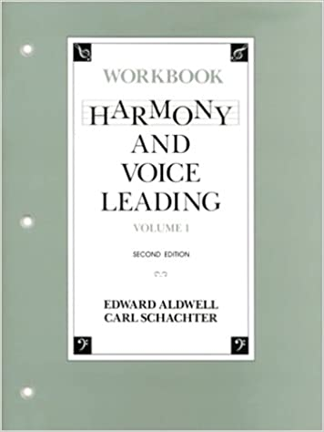 Harmony And Voice Leading Workbook Vol 1 2nd Edition