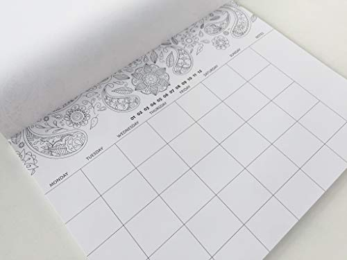 (Belle De Jour 2019 Calendar Pad - Undated Desk Calendar - Weekly, Monthly Planner - Desk Pad for Writing Notes)